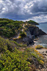 presqu'ile de giens, sentier du littoral (chicos54) Tags: ocean sea mer france green nature beauty de landscape landscapes flickr gallery award du vagues var sentier paysages rochers sauvage méditerranée potofgold littoral presquile giens presquiledegiens francelandscapes