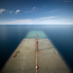 Into the Sea (Gary Newman) Tags: blue square plymouth rail devon submerged uksea bigstopper