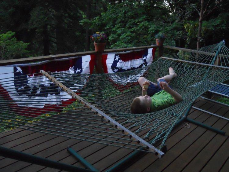 Levi in hammock
