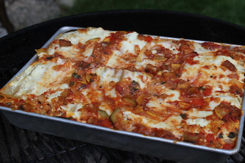 Veggie Lasagna on the grill