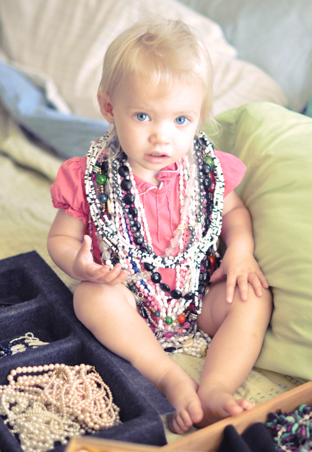 delilah in nana's vintage necklaces