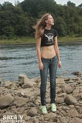 finding home. (365daysofsarav) Tags: river model rocks waterfront augusta midriff uploadedviaflickrqcomgirl