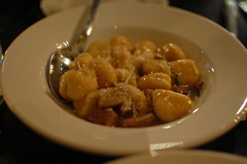 Gnocchi with Porcini Mushrooms and In-house Cured Pancetta and Parsley