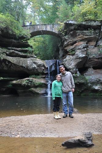 Ella and Drew at Upper Falls