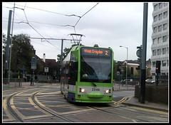 Tramlink unit 2546 on service 2 East Croydon 08/10/11. (Ledlon89) Tags: london station tram tramway croydon bombardier tramlink tfl electrictransport alltypesoftransport uktramsystems