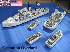6th of June 1944, Operation Overlord (D-Day) (Lego Major) Tags: lego ww2 dday lcm lcvp lct militarytrawler