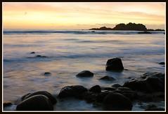 Otoño (ARV-GAS1) Tags: sunset beach noche agua stones playa wb nubes seda vilar piedras ferrol atlantico