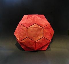 Flagstone - Cooper (rebecccaravelry) Tags: origami cooper tessellation flagstone joelcooper