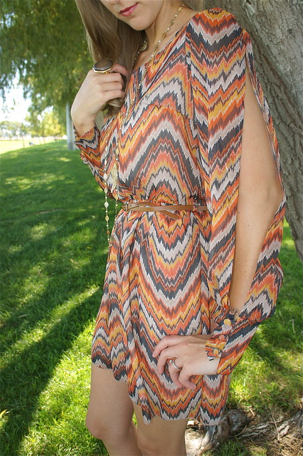 Orange brown dress
