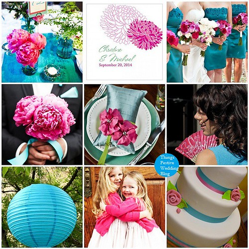 Fuchsia and Teal Wedding