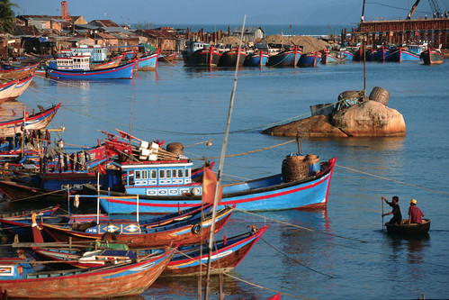 Fishing harbor, Vietnam, photo by Dominyk Lever, 2004