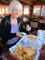 IMG_3067: Eating Fish and Chips