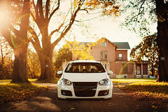 Jason Morabito - GTI (Ronaldo.S) Tags: autumn sun white color fall leaves vw air sigma flare gti 50 rs bbs mkv d700 f14mm rotiform