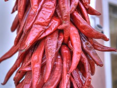 Chile peppers (JoelDeluxe) Tags: chile red newmexico albuquerque peppers nm joeldeluxe oldtown hdr ristra