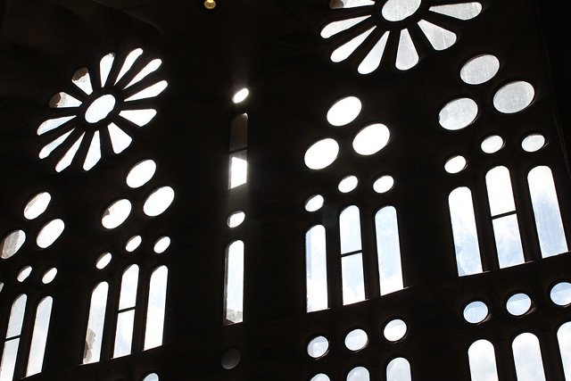 from inside sagrada familia