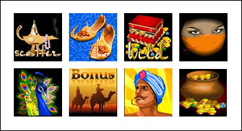 free Shia Safavids Treasure slot game symbols