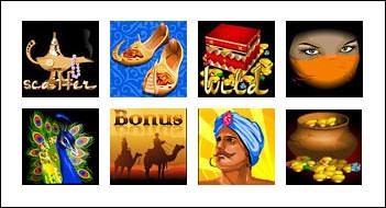 free Shia Safavids Treasure slot game symbols
