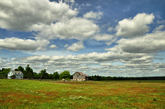 Summer Clouds Over Minden in HDR (Seth Oliver Photographic Art) Tags: summer ontario canada clouds barn landscapes countryside iso200 nikon day cloudy minden hdr highdynamicrange pinoy travelphotography d90 handheldshot pseudohdr singlefilehdr hdrimagery aperturef90 autolandscapemode setholiver1 18105mmnikkorlens circularpolarizers vacationimages 1125secondexposure