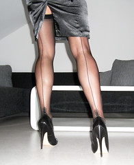 R0011919 (nylongrrl) Tags: stockings garter shiny highheels legs manhattan butt skirt glossy upskirt heels outline satin stiletto ph ankle pantyhose dangle nylon nylons garterbelt seams collant seamed rht ffn satindeluxe