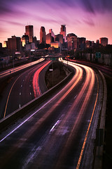thus the day ends (posthumus_cake (www.pinnaclephotography.net)) Tags: longexposure sunset sky urban usa motion blur color building beautiful beauty minnesota skyline clouds zeiss skyscraper canon landscape eos october highway midwest glow cityscape traffic outdoor dusk tripod minneapolis motionblur freeway 5d rushhour twincities mn gitzo ze manfrotto 235 distagon carlzeiss leadinglines canoneos5d distagont235 distagon352ze carlzeissdistagont235ze
