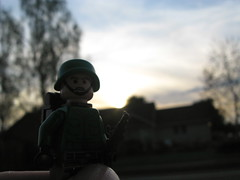 Last man standing (xXPoe1204Xx) Tags: silhouette soldier lego