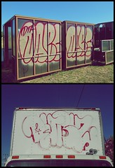 Dabs (YUNGVINCE) Tags: california ca bus truck graffiti bay north stop um area dabs northbay dta