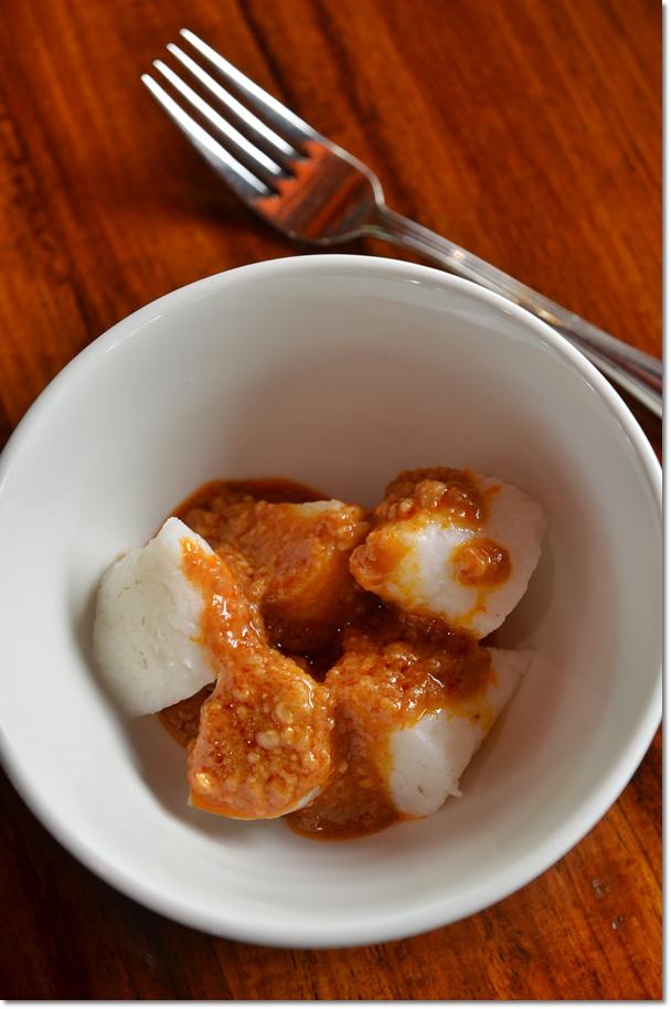 Nasi Impit with Kuah Kacang