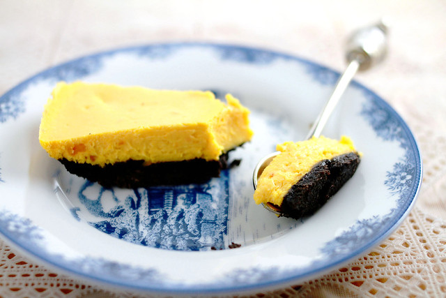 Roasted Pumpkin Cheesecake with Oreo Peanut Butter Crust
