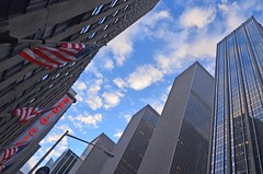 skyward shot from radio city ------------- viewed 365x (norlandcruz74) Tags: city nyc newyorkcity ny newyork composition digital radio nikon cityscape angle pov manhattan perspective pointofview cruz dslr scape pinoy scapes newyorkny norland d5100