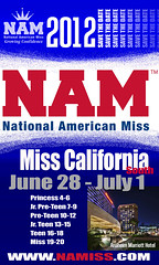 National American Miss California South 2012 Dates