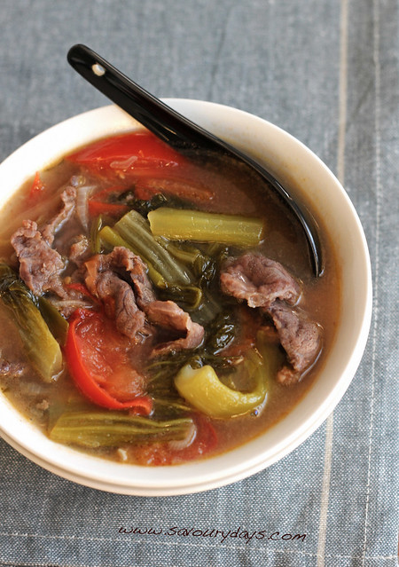 Beef & Pickled mustard green Soup