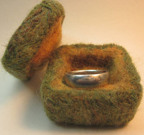 Felted box, open