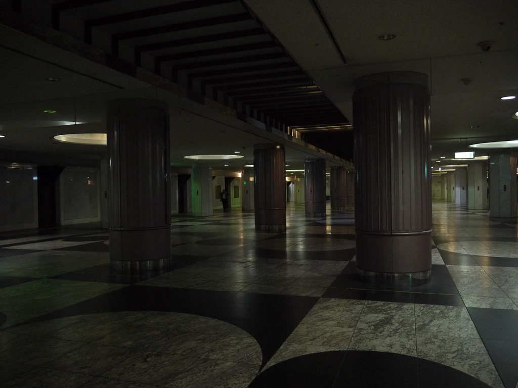 at the obscure corner of the huge underground shopping area