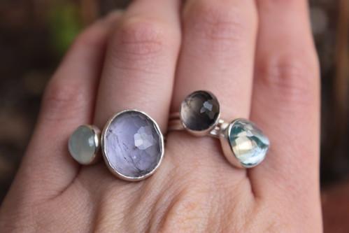 New gemstone rings