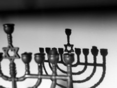 Judaism - Edited (ekraz) Tags: light shadow blackandwhite bw religious nikon shadows edited chanukah religion jewish judaism edit hanukkah menorah nikonflickraward