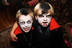 Dracula Buddies (clappstar) Tags: costumes halloween kids kid friend child teeth dracula facepaint kid2 chs bestcostume kidcostume