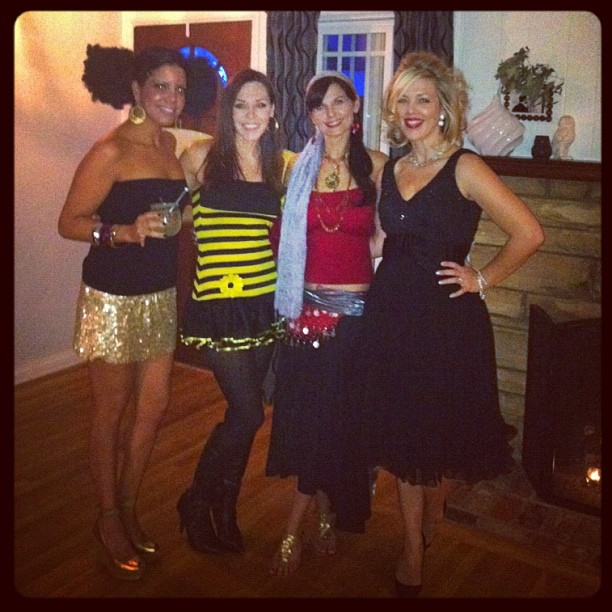 Reunited friends... Sneak peek at our little Halloween party last night