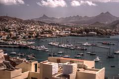 Mindelo (pbr42) Tags: ocean water skyline marina boats bay atlantic hdr capeverde mindelo saovicente qtpfsgui