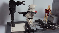 Storming The Bunker (LPGPictures) Tags: boss trooper star lego awesome delta security madness cape sev wars squad clone epic mgl scorch fixer fordo brickarms minifigmaker