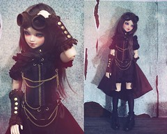 """Keeley"" set by Dollheart (Cyristine) Tags: old ball asian doll grunge dirty bjd keeley steampunk msd jointed dollheart unoa sist"