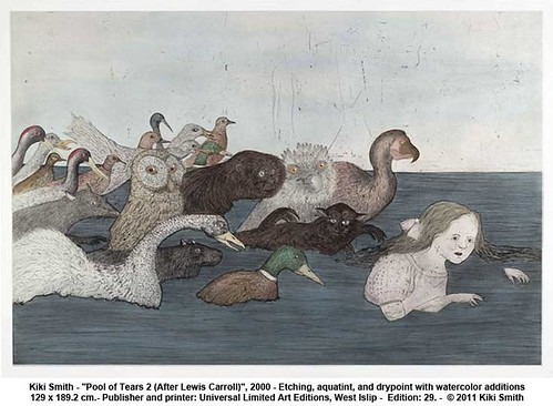 "Kiki Smith - ""Pool of Tears 2 (After Lewis Carroll)"", 2000 by artimageslibrary"