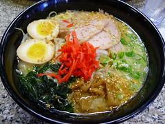 Tamaya Kotteri Tonkotsu Ramen (sherimiya ♥) Tags: green japanese soup ginger sheri egg delicious pork ramen noodles onion tonkotsu wakame menma kotteri sherimiya