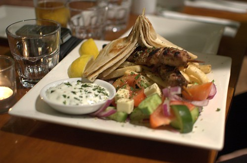 Chicken souvlakia