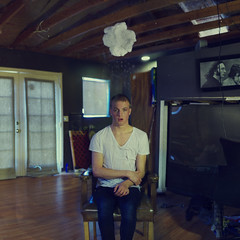 Rain check. (David Talley) Tags: wood cloud house texture alex wet water rain shirt clouds vintage paper wooden tv sweater chair doors apartment floor room brian rosie clothes indoors rainy beatles dresser raining lissy tutorial thebeatles frenchdoors whiteshirt vneck