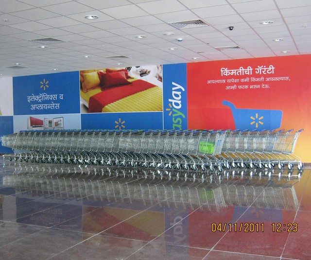 Bharati Wal-Mart compact hypermarket store 'easyday market' at Abhiruchi Mall & Multiplex, Sinhagad Road, Pune 411 041