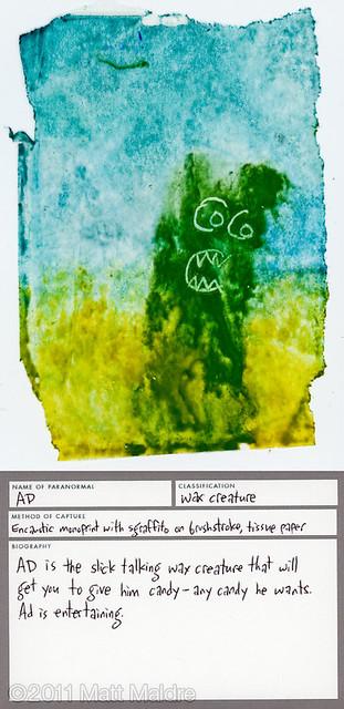Wax creature 3: Ad
