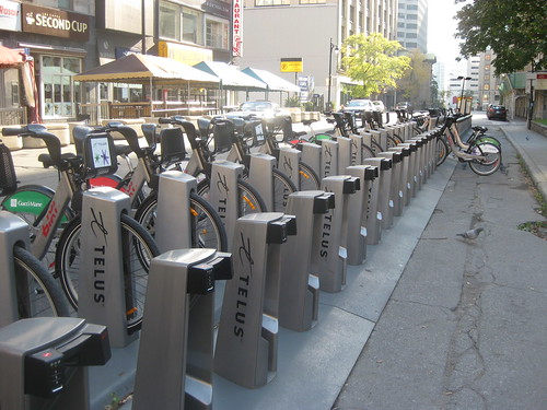 Montreal's bikeshare, which goes to infinity