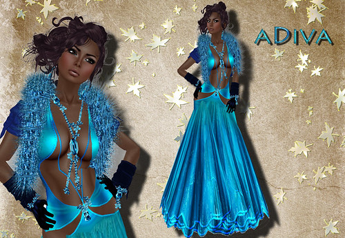 aDiva couture Contes Gown Jaded psd