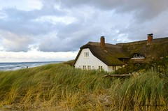 On the coast (Antonia Krmer) Tags: sea house beach strand meer dune haus balticsea thatchedroof ostsee reet houseonthebeach dhne antoniakrmer hausamstrand