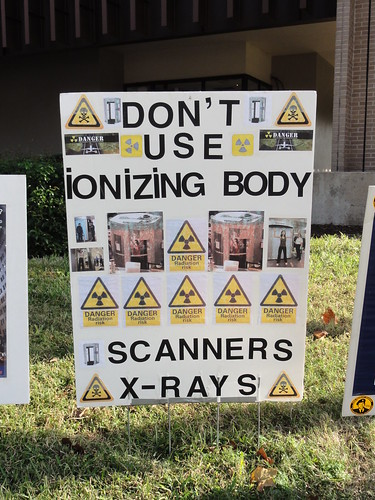 """Don't use ionizing body scanners X-rays"""